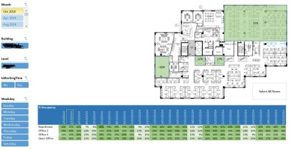Excel 2013 floor map visulisation