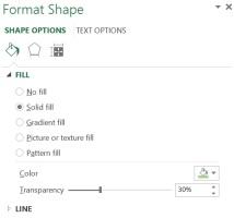 Excel Format Shape Pane